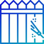 fence washing service icon blue